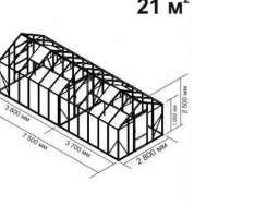 Теплица Ботаник стандарт  21м2